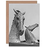 Kelpies Horse Sculptures Falkirk Scotland Greetings Card