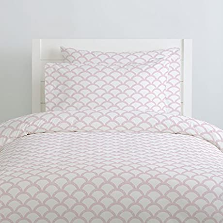 Carousel Designs Pink Moroccan Scallop Duvet Cover Queen Full Size Organic 100 Cotton Duvet Cover Made In The USA