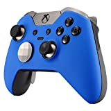 eXtremeRate Soft Touch Grip Blue Front Housing