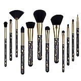 Docolor Makeup Brushes 12Pcs Goth Makeup Brush Set Foundation Contour Eyeshadow Make Up Brushes kit