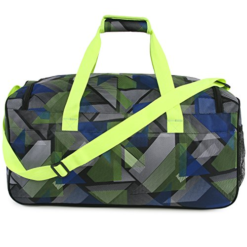 51JejsjcLlL - Fila Energy Md Travel Gym Sport Duffel Bag, Abstract Neon