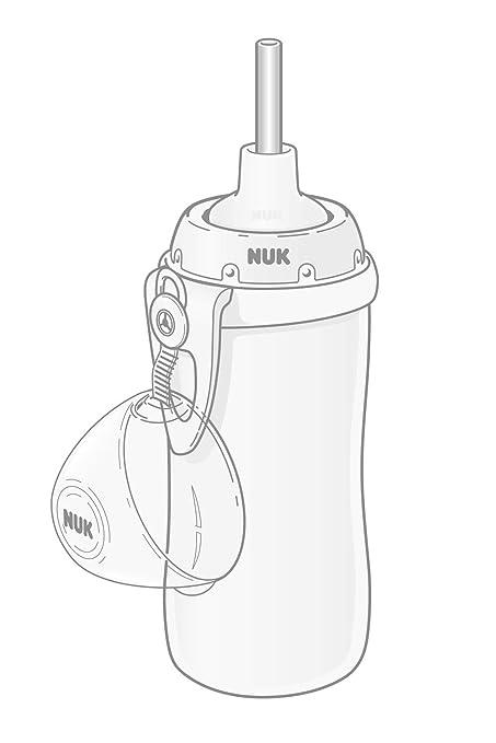 NUK Flexi Cup Trinklernflasche mit Trinkhalm 12+ Monate auslauf- und bruchsicher 300ml gr/ün Bagger BPA-frei BPA-frei
