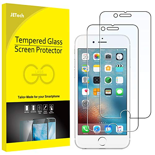 JETech Screen Protector for Apple iPhone 6 and iPhone 6s, 4.7-Inch, Tempered Glass Film, 2-Pack (Best New Iphone 6 Accessories)