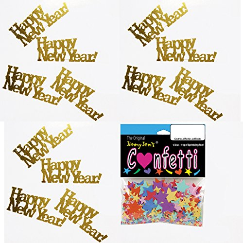 Confetti Word Happy New Year Gold - 2
