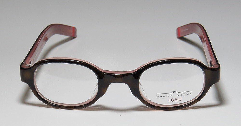 2b04ef017f9 Amazon.com  Marius Morel 1880 1915m Mens Womens Designer Full-Rim Shape  Spring Hinges European Stylish Hip Eyeglasses Eye Glasses (43-25-135