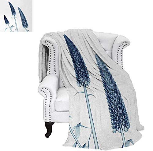 (Warm Microfiber All Season Blanket for Bed or Couch Gooseneck Loosestrife Flower X-Rays Image Exotic Plants Blooms Artful Home Image Throw Blanket 62