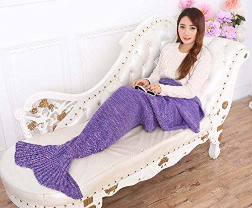 AOOK HOMEMADE X-Large Mermaid Tail Blanket Crochet, Warm