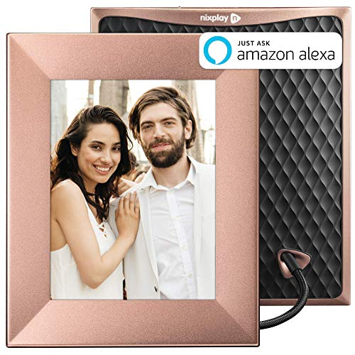 - Nixplay Iris 8 Inch Digital Wifi Photo Frame W08E Peach Copper - Smart Frame with IPS Display, Motion Sensor and 10GB Online Storage, Display and Share Photos with Friends via Nixplay Mobile App