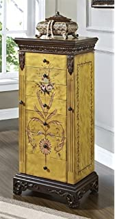 Amazoncom Oriental Furniture Gold Leaf Floor Jewelry Armoire
