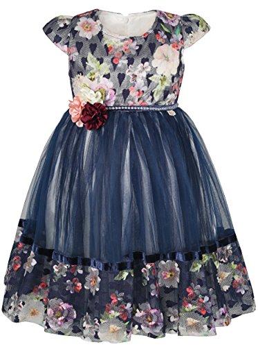 Easter Church Dress - Lilax Little Girl Easter Toddler Princess Short Sleeve Tulle Dress 5T Navy