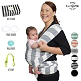 Baby Wrap Carrier Ring Sling Infant Newborn Soft Breathable Lightweight Organic Cotton Stretchy Adjustable All In 1 Bundle Free Bonus Gift Nursing Cover Postpartum Belt Perfect Baby Shower Gift Grey Review