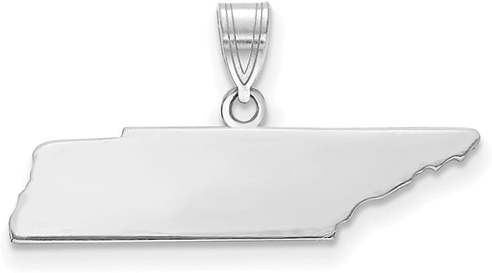 14k White Gold TN State Pendant Bail Only