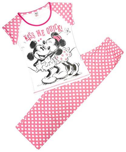 Femmes Disney Minnie Mouse Kiss Me Quick Pois Pyjamas Grandes Tailles de 8 pour 22