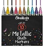 Metallic Chalk Markers - Pack of 10 Liquid Chalk Pens - for Chalkboard