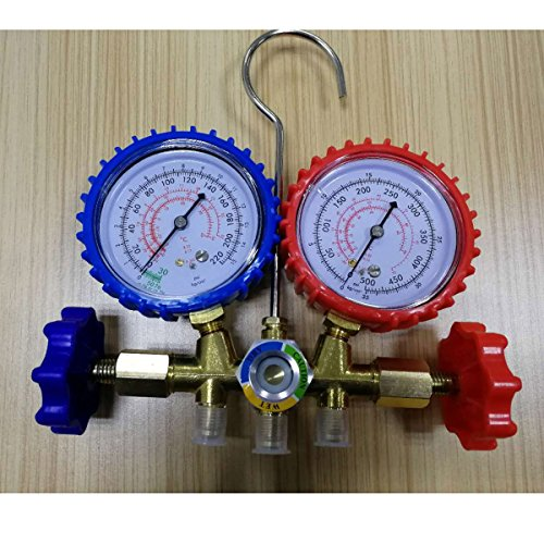 WINOMO Manifold Gauge Dualuse Air Conditioner Refrigeration Freon Set Kit for Car Home A/C by WINOMO (Image #1)