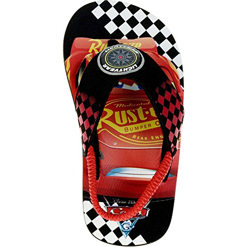 4fc103d32632 Galleon - Cars Boys Sandals Flip Flop Style Mcqueen (Medium 7 8)