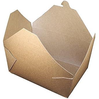 BIOPAK 96 oz tierra cartón de alimentos envases - 8 1/2