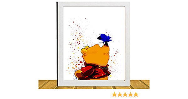 Pooh Winnie the Pooh Type 1 Wall Art Disney Watercolor Poster Nursery UNFRAMED