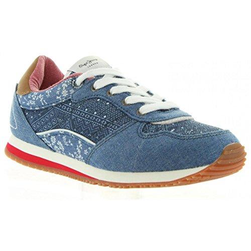 Pepe Jeans London Mädchen Sydney Indigo Low-Top Blau