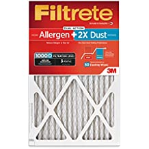 Filtrete MPR 1000D 16 x 25 x 1 Micro Allergen PLUS DUST AC Furnace Air Filter, 2-Pack