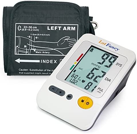 LotFancy Blood Pressure Monitor, Upper Arm BP Cuff (8.6-14