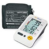 "LotFancy Upper Arm Blood Pressure Monitor, 120 Memory, 4-User Mode, Fully Automatic Blood Pressure Machine with Cuff (8.6""-14""), Digital Sphygmomanometer"
