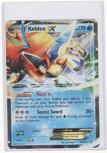 Pokemon Jumbo KELDEO EX Promo Card #49/149 LARGE SIZED! (Ex Promo Pokemon Cards)