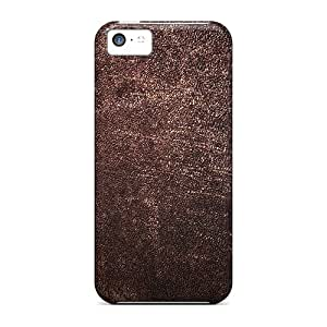 New Style JohnRapper Hard Case Cover For Iphone 5c- Brown Leather Skin Texture