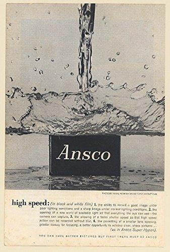 1961 Ansco Super Hypan Film High Speed Irving Penn Photo Print Ad 67933