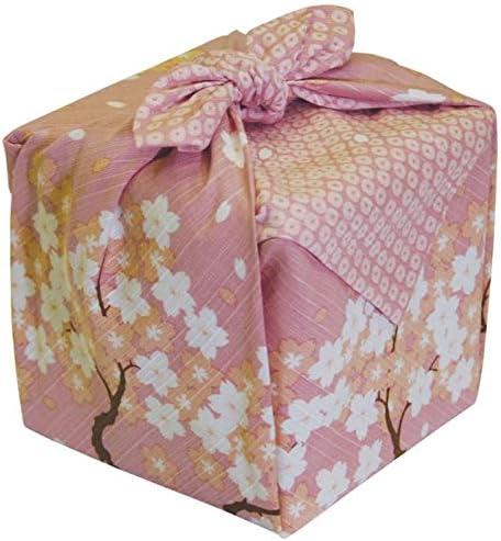 kawaii fabric kyoto tower tapestery panel, Japanese sakura furoshiki cloth fabric wrapping cherry tree tea towel  fabric