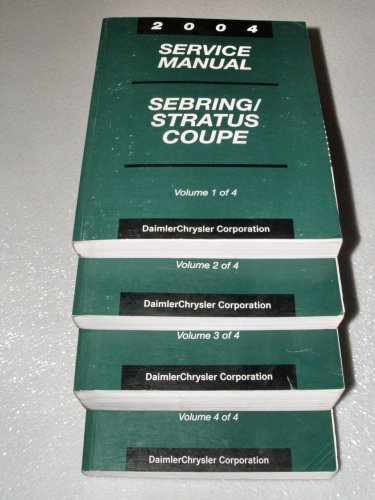 2004 Chrysler Sebring, Stratus Coupe Service Manuals (4 Volume Set)