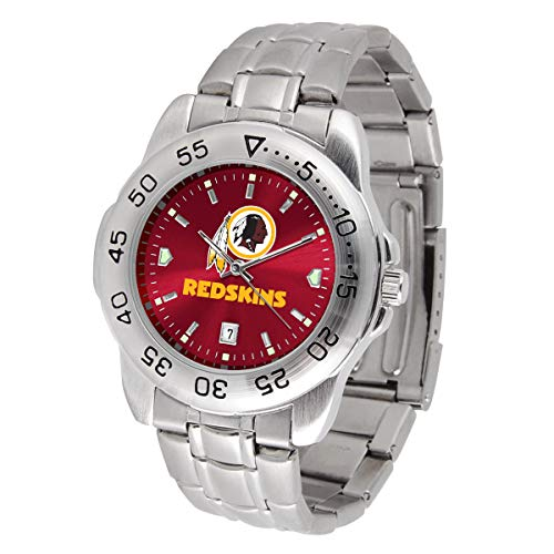 Game Time NFL Washington Redskins Mens Sport SteelWrist Watch, Team Color, One Size ()