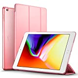 iPad 2017 iPad 9.7 inch Case, ESR Lightweight Smart Case Trifold Stand with Auto Sleep/Wake Function, Microfiber Lining, Hard Back Cover for Apple iPad 9.7-inch,Pink