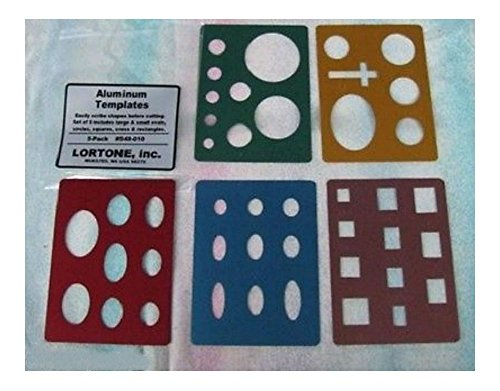 Lortone Lapidary Templates Cabbing Cabochon Aluminum Circle Cross Square 549-010 U.S Top Seller!