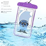 NextBook Next8D12F 8 inch Tablet Purple TRANSPARENT Underwater Protection Touch Responsive Dry Bag Case Cover for NextBook Next8D12F 8 inch Tablet
