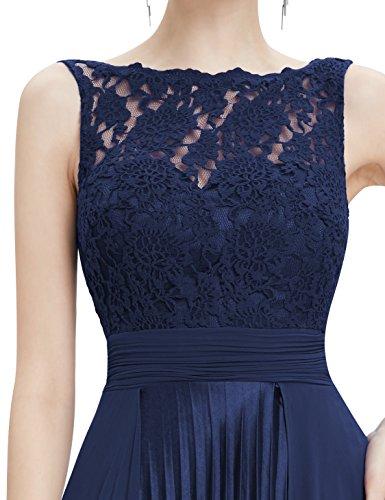 Lace Lang Ever 08352 Pretty Aermellos Navy Blau1 Feierlich Damen Party Abendkleider rEqpqI