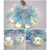 SYAKAP Festival Lights String Animals Shark Shape indoor String Lighting Battery Powered Cute Decor Outdoor Party light P10