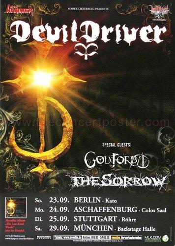 DevilDrivers - Last Kind Words 2007 - Poster, Concertposter, Concert
