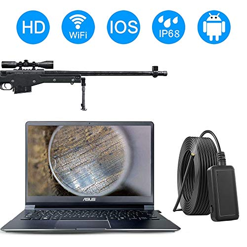 Duzzy 2.0 WiFi Rifle Borescope, 0.2inch Gun Barrel Borescope Camera for Android & iOS iPhone Smartphone Tablet Windows and Mac