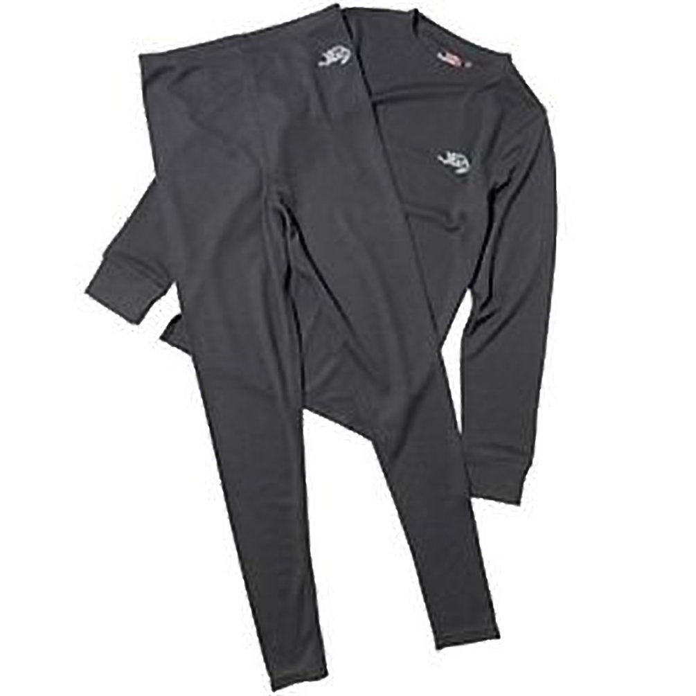 Kangaroo Poo Junior Baselayer Pant & Top Set Black 12-13 Year Old Brand New
