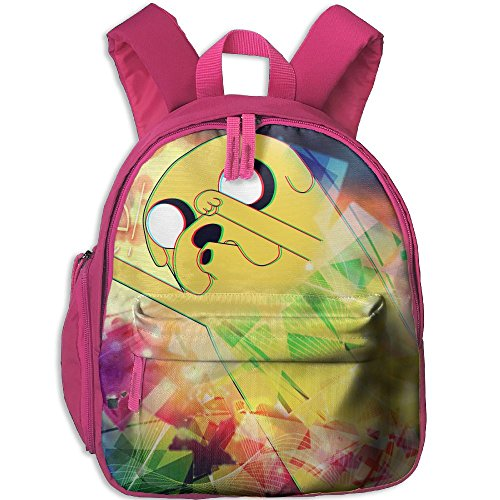 Adventure-time Functional Design For Students School Backpack Children Bookbag Perfect For Transporting For School In 4 Season Pink (Person Carrying Person Halloween Costume)
