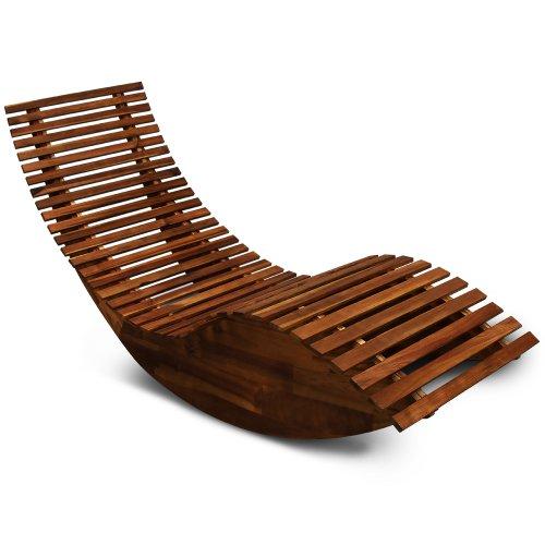 chaise longue bascule en bois transat ergonomique jardinplageterrasse bain de soleil relax amazonfr jardin - Transat En Bois