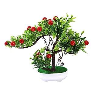 LamicAR 1Pc Artificial Rose Flower Fruit Tree Miniascape Party Home Desk Bonsai Decor 108