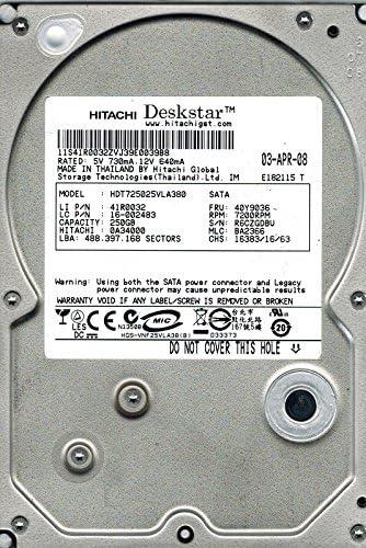 BA2366 250GB 0A34000 MLC Hitachi HDT725025VLA380 P//N