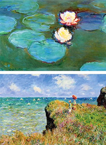 Buttonsmith Claude Monet Water Lilies Rectangle Magnet Set - Made in the USA ()