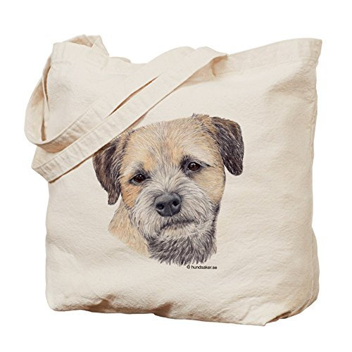 (Border Terrier Canvas Tote Bag for Kids Cute Eco-Friendly Reusable School Bag for Girl)