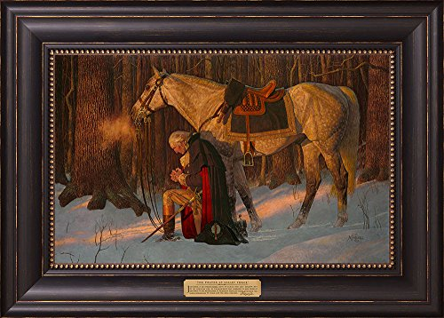 The Prayer At Valley Forge - Arnold Friberg - Framed Textured Lithograph Forge Art