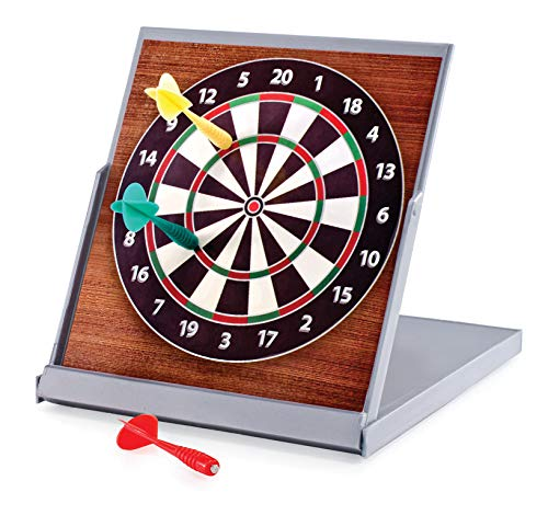 Relaxus Mini Desktop Magnetic Dartboard. Folds for Easy Storage and Travel. 1 Unit