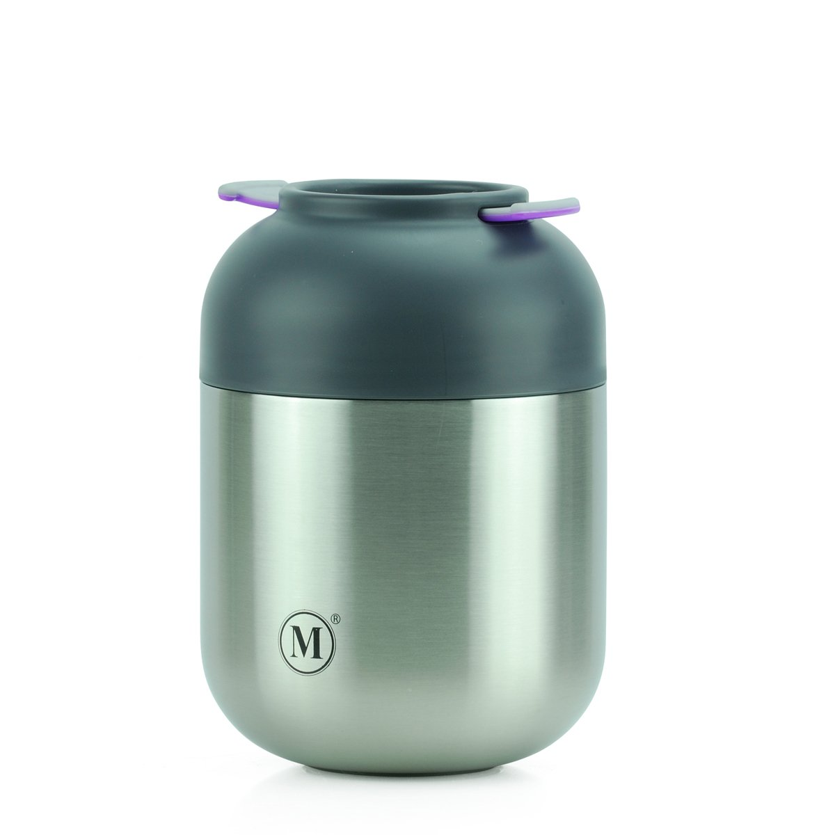 Minimal Stainless Steel Vacuum Insulated Food Jar V2 - Thermos, Soup  Container, with folding spoon (24oz, Classic)