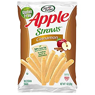 Sensible Portions Apple Straws, Cinnamon, 1 oz. (Pack of 8)